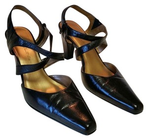 Bellini Leather Black Pumps