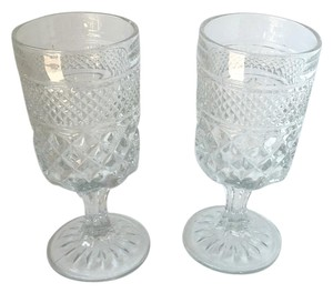 Shabby Chic Vintage Cocktail Glasses Set Home Wedding Decor