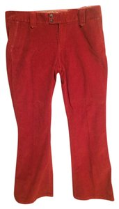 Gap Flare Pants Red