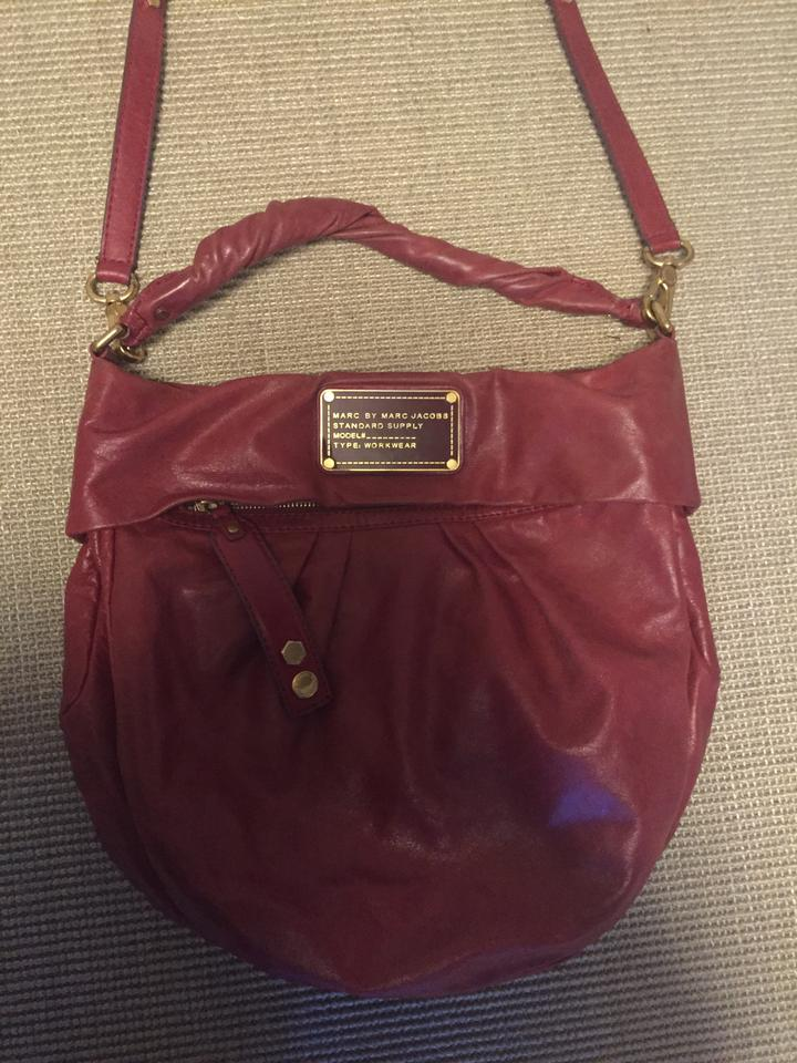 5dd2d368b985 Marc by Marc Jacobs Twisted Q Red Leather Hobo Bag - Tradesy