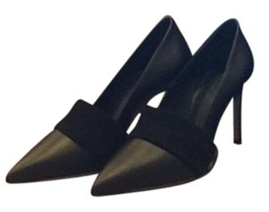 Vince Black leather with suede accent Pumps