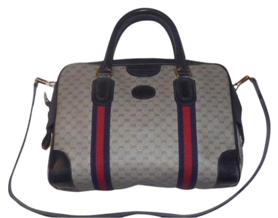 759e1f47c7f3 Gucci Doctor s Speedy Boston Shades Of Unique Satchel in navy blue small G  logo Image ...