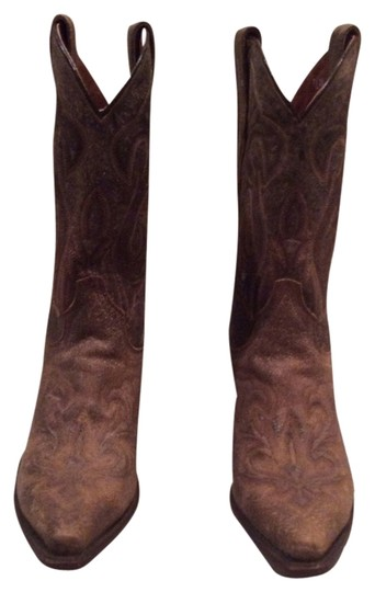 Dan Post Boots Leather Distressed Western Brown Boots