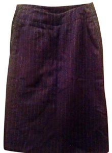 Calvin Klein Vintage Skirt Navy blue with white pinstripes