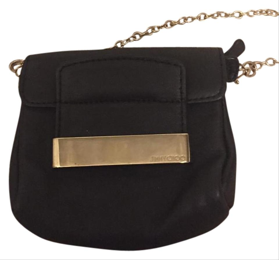 Jimmy Choo Leather Handbag Gold Chain Cross Body Bag