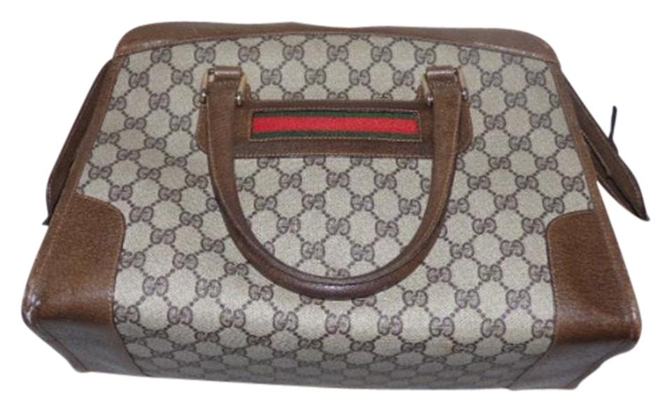 590858e3bb24 Gucci Doctor's Boston Large G Logo Red/Green Stripe Extra Large Size  Satchel in shades ...