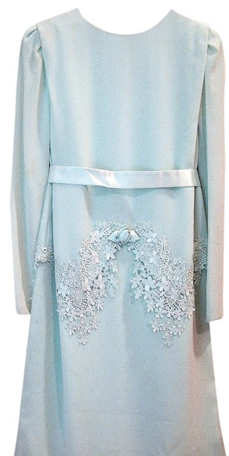 Ursula of Switzerland Stunning Tea Length Embroidered Embellished Dress