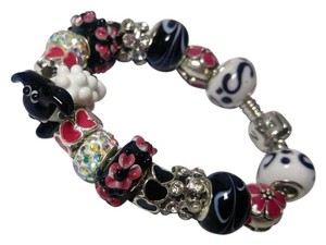 Other New European Charm Bracelet 17 Removable Charms Lampwork Lamb J2740