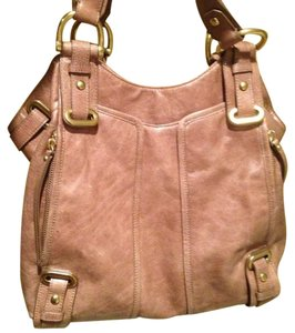 Kooba Satchel in Tan-Grey
