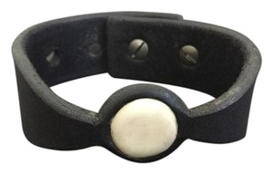 Rick Owens Rick Owens Buffalo Bone Inlay Leather Cuff Bracelet