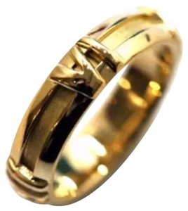 Tiffany & Co. Auth Tiffany & Co Atlas Band Ring In 18K Y. Gold Size Us4