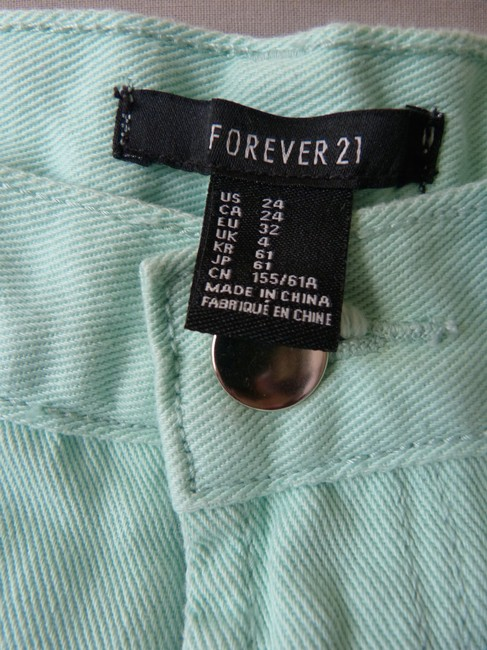 Forever 21 Cut Off Shorts Mint Green