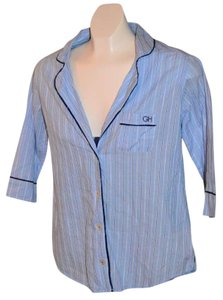 Gilly Hicks Sydney Size Xs Top Blue pinstripe