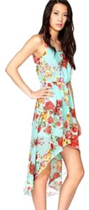 Floral Maxi Dress by Forever 21 High Low Sleeveless