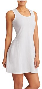 Athleta short dress White Sleeveless Scoopneck Stretch Flared Activewear on Tradesy