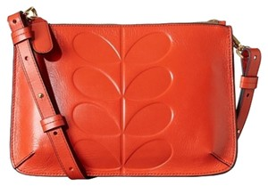 Orla Kiely Poppy Leather Cross Body Bag