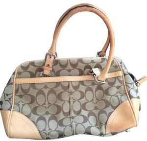 Coach Hobo Satchel in Jaquard Tan And Brown