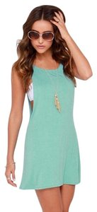 Lulu*s short dress Teal on Tradesy