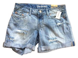 Aéropostale Jean Size 2 Boyfriend Cut Off Shorts Denim and black