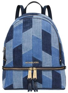 Michael Kors Denim Leather Rhea Backpack
