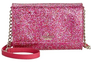 Kate Spade Glitter Red Pink Gold Cross Body Bag