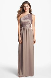 Amsale Truffle Truffle Over The Shoulder Dress