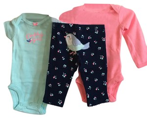 Carter's T Shirt Navy, Mint, Pink