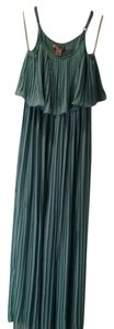 Mint Maxi Dress by Forever 21 Pleated Layered Maxi