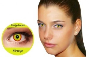 Crazy wildfire color contact lenses