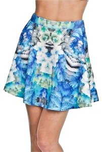 Romeo & Juliet Couture Mini Skirt Blue Green Multi
