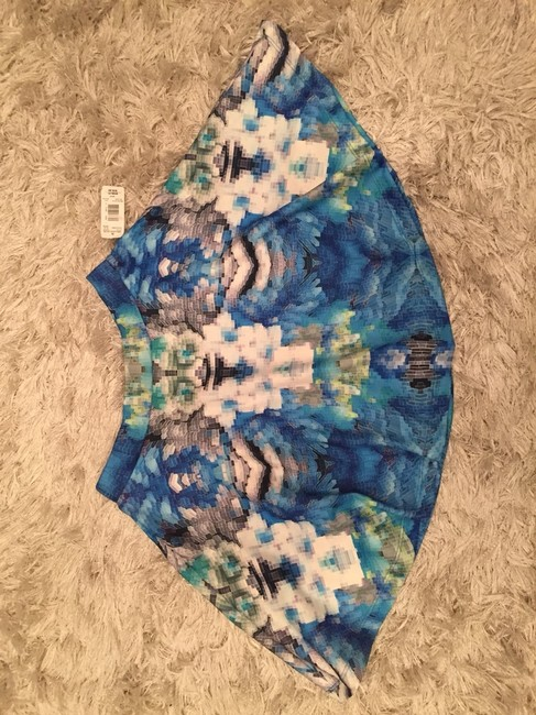 Romeo & Juliet Couture And Mini Micro-mini Graphic New With Tags Nwt Gno Girls Night Out A-line Spring Mini Skirt Blue Green Multi