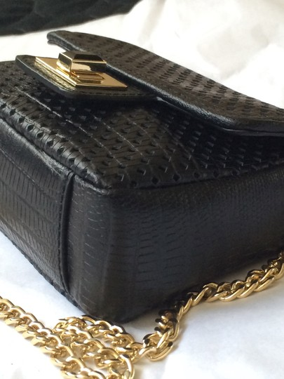 Juicy Couture Mini G Lethaer Perforated Chain Strap Cross Body Bag