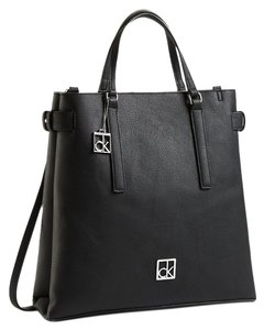 Calvin Klein Faux Leather Tote in black