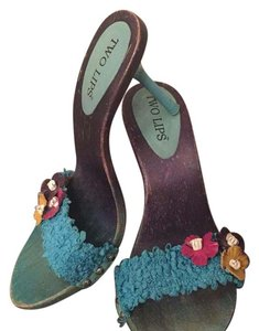 23433f9962 Women s Blue Two Lips Shoes - Up to 90% off at Tradesy