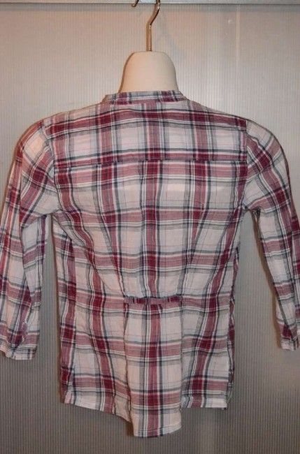Abercrombie & Fitch & Adorable! New Without Tags Size Xl Top Grey/White/Red Plaid