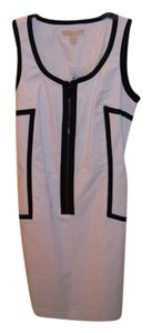 White and Black trim Maxi Dress by Michael Kors New With Tags Dryclean Only