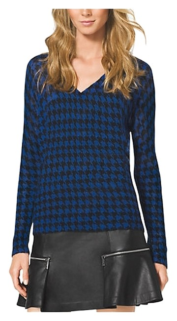 Preload https://item5.tradesy.com/images/michael-michael-kors-black-and-blue-houndstooth-mohair-sweaterpullover-size-8-m-1731309-0-0.jpg?width=400&height=650