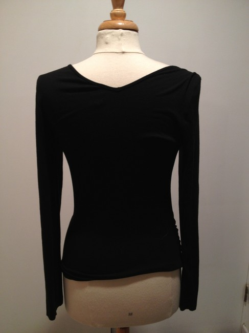 Three Dots Stretchy Top Black