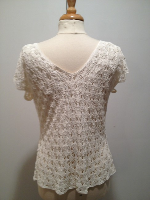 Kroshetta by Papollon Crochet Shell Top Cream