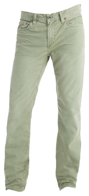 Item - Artisan Green Tea Light Wash Slim (Men) Straight Leg Jeans Size 30 (6, M)