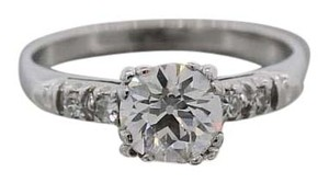 1.08carat Old European VS1 Clarity H-I Color Solitaire EGL Engagement Ring
