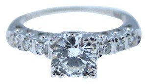 Other Antique Art Deco 14k White Gold .63CTW E-F VS2 Diamond Engagement Ring Vintage