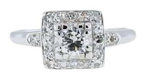0.76ctw EGL Brilliant Cut Diamond Engagement Wedding Ring E-F color SI