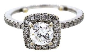 GIA Certified Solid 14k White Gold Diamond Pave Set Wedding Engagement Ring