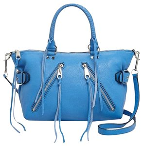 Rebecca Minkoff New With Tags Leather Moto Satchel in Denim