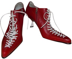Michelle K red/white Boots