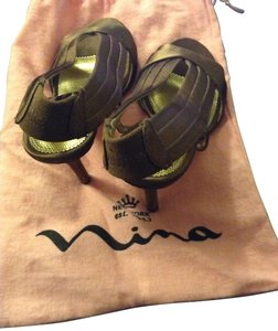 Nina Shoes Genuine Leather Sole Maroon Sandals