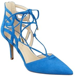 Marc Fisher Suede Pointy-toe Lace-up blue Pumps