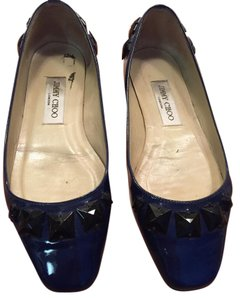 Jimmy Choo Blue and black patent leather Flats