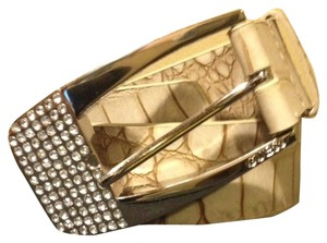 Guess #921101 CROCODILE BELT WITH RHINESTONE BUCKLE